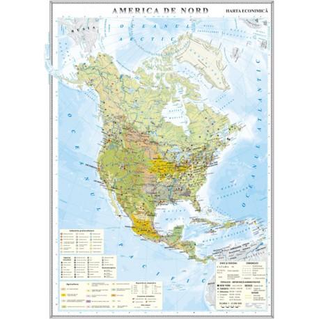 America de Nord. Harta economica