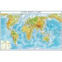 Harta fizica a lumii (fata)/Harta de contur (verso)