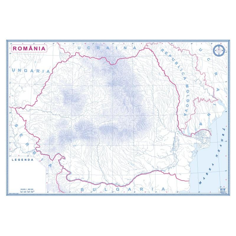 Romania Si Republica Moldova Harta Fizica Fata Harta De Contur