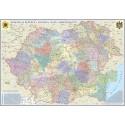 Romania si Republica Moldova. Harta administrativa