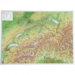 Georelief Harta magnetica Schweiz groß, 3D Reliefkarte