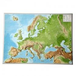 Georelief Harta Europei in relief mare, 3D