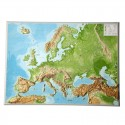 Georelief Harta Europei in relief mare, 3D