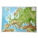Georelief Harta magnetica European relief map, mare, 3D