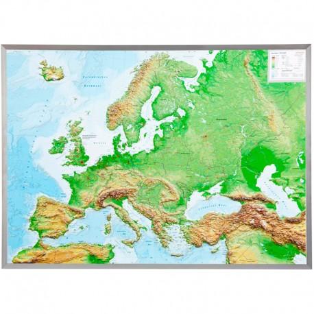 Georelief Harta Magnetica Europa Mare 3d Harta Fizica Cu Rama De