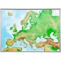 Georelief Harta magnetica Europa mare, 3D Harta fizica cu rama de aluminiu