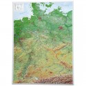 Georelief Harta in relief 3D a Germaniei, mare (in germana)