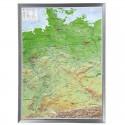 Georelief Harta in relief 3D a Germaniei, mare, in cadru de aluminiu (in germana)