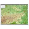 Georelief Harta magnetica Österreich klein, 3D Reliefkarte mit Kunststoffrahmen