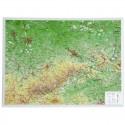 Georelief Harta in relief 3D Saxonia, mica (in germana)