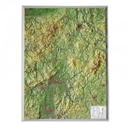 Georelief Harta magnetica Hessen klein, 3D Reliefkarte