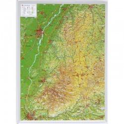 Georelief Harta magnetica Schwarzwald klein, 3D Reliefkarte