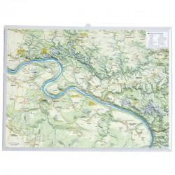 Georelief Harta magnetica Sächsische Schweiz klein, 3D Reliefkarte