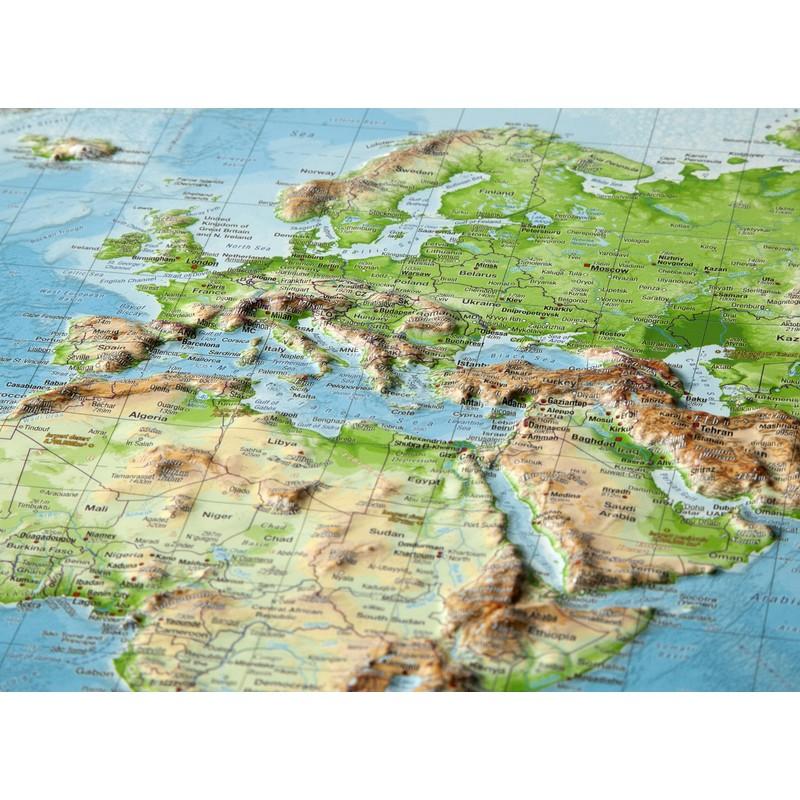 Georelief Harta Fizica A Lumii Mare 3d Geostore Ro