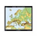 Klett-Perthes Verlag Harta continent Europa - formele de relief (P) fata-verso