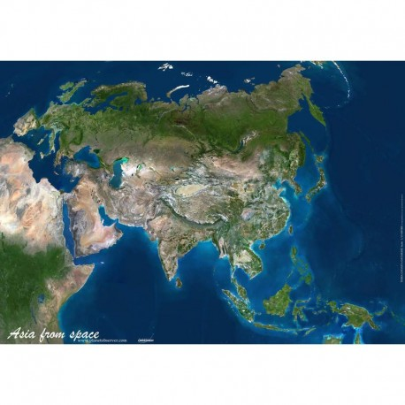 Planet Observer Harta continent Asia