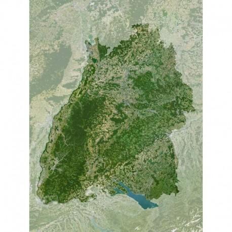Planet Observer Harta regionala Baden-Württemberg