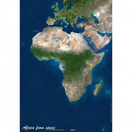 Planet Observer Harta continent Africa