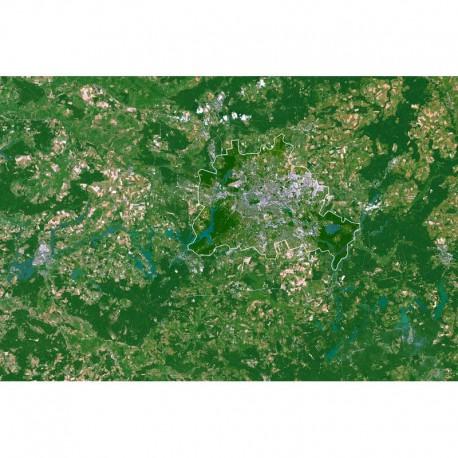 Harta regionala Landul Berlin şi împrejurimi Planet Observer
