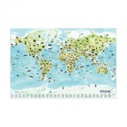 Harta pentru copii Stellanova cu enciclopedie de animale