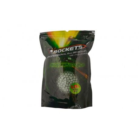 Bile Airsoft Rockets Professional BIO 0,20g BBs - 0,5kg verde inchis