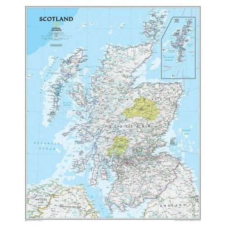 Harta Scoţia National Geographic