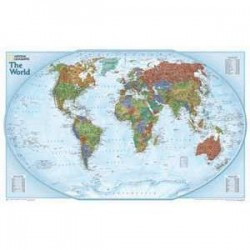 Harta lumii Planiglob decorativ special National Geographic