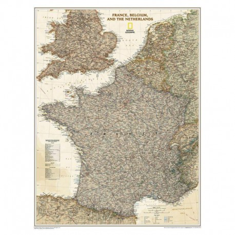 Harta Franței National Geographic