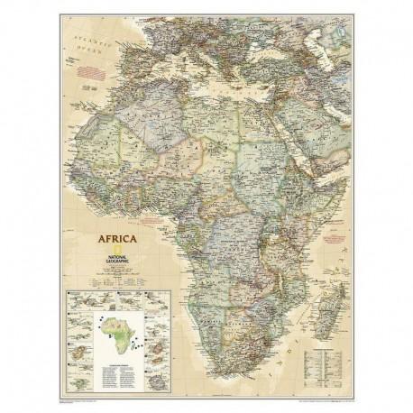 Harta continent Harta Africa design antic National Geographic