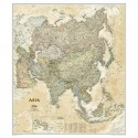 Harta continent Harta Asia design antic National Geographic