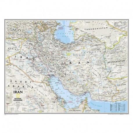 Harta Hartă Iran National Geographic