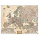 Harta continent Harta Europa design antic 3 parti National Geographic