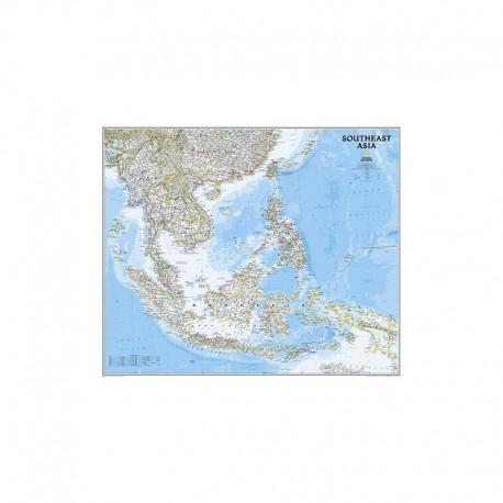 Harta regionala Harta Asia de Sud National Geographic