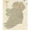 Harta Irlanda stil antic laminata National Geographic