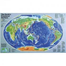 Harta Suprafaţa accidentată a Pământului National Geographic