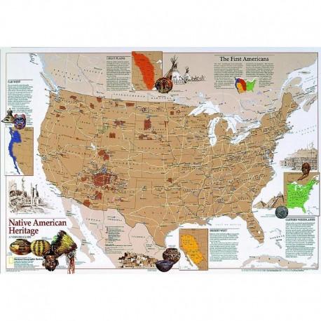 Harta Moştenirea americanilor indigeni National Geographic