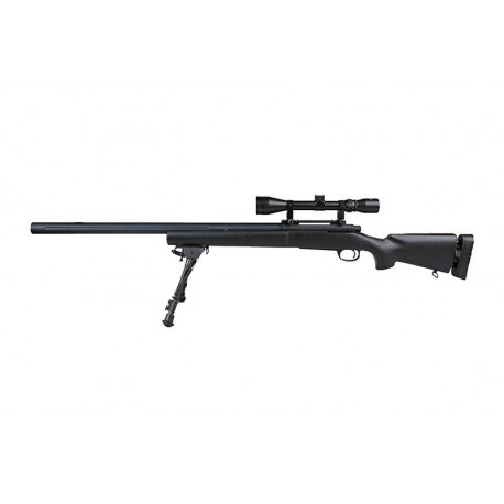 Replica Airsoft SW04 ARMY (with scope and bipod) black