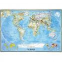 Harta politică a lumii clasică, laminată National Geographic