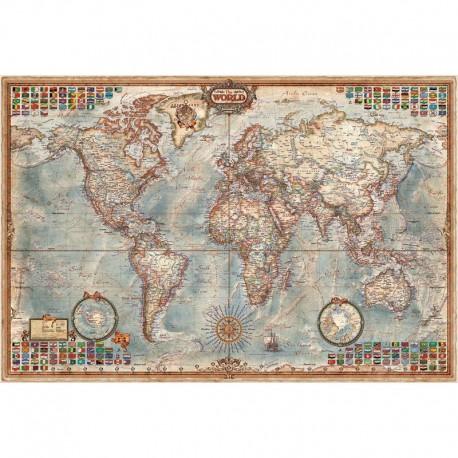 Harta lumii Hartă antică Executive, laminată RayWorld