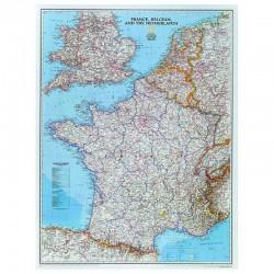 Harta Franţa National Geographic