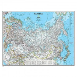 Harta politică a Rusiei National Geographic