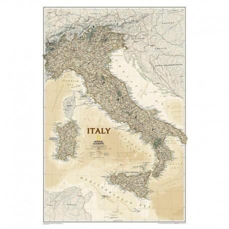 Hartă Italia design antic National Geographic