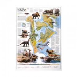 Harta Dinozaurii Americii de Nord National Geographic