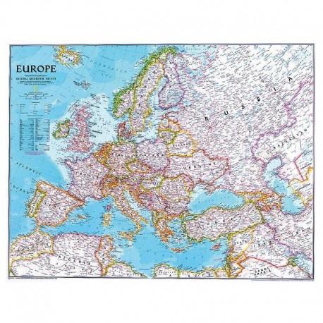Harta politică a Europei mare National Geographic