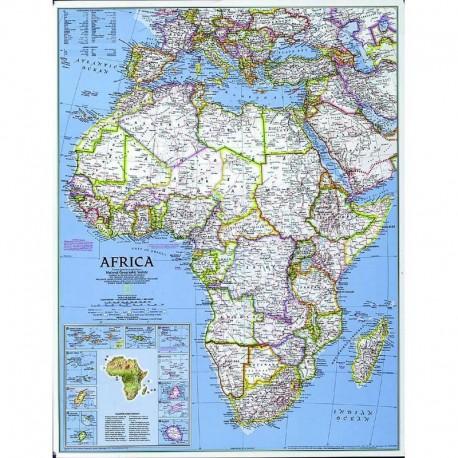Harta politică a Africii National Geographic