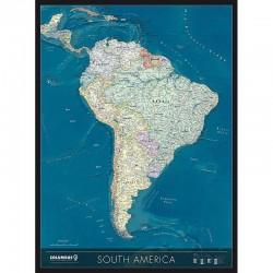 Harta continentului America de Sud Columbus