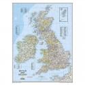 Harta regionala Insulele Britanice National Geographic