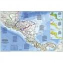 Harta regionala America Centrala National Geographic