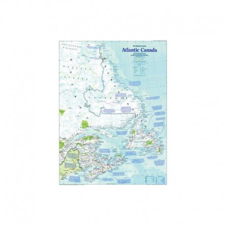 Harta regională Canada Atlantica National Geographic