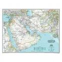 Harta regionala Afghanistan, Pakistan si Orientul Mijlociu National Geographic
